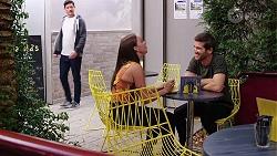 Finn Kelly, Bea Nilsson, Ned Willis in Neighbours Episode 8096