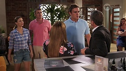 Amy Williams, Gary Canning, Terese Willis, Kyle Canning, Paul Robinson in Neighbours Episode 8099
