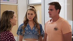 Amy Williams, Chloe Brennan, Kyle Canning in Neighbours Episode 8102