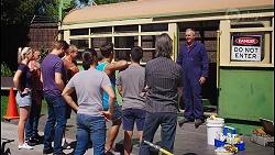 Toadie Rebecchi, Shane Rebecchi, Aaron Brennan, David Tanaka, Karl Kennedy in Neighbours Episode 8105