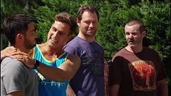 David Tanaka, Aaron Brennan, Shane Rebecchi, Toadie Rebecchi in Neighbours Episode 8105