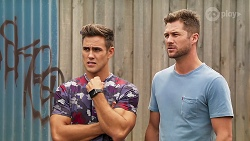 Aaron Brennan, Mark Brennan in Neighbours Episode 8107