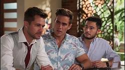 Mark Brennan, Aaron Brennan, David Tanaka in Neighbours Episode 8109