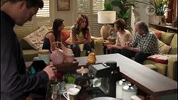 Finn Kelly, Bea Nilsson, Elly Brennan, Susan Kennedy, Karl Kennedy in Neighbours Episode 8109