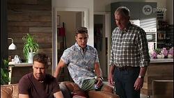 Mark Brennan, Aaron Brennan, Karl Kennedy in Neighbours Episode 8109
