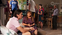 Leo Tanaka, Terese Willis, Paul Robinson in Neighbours Episode 8110