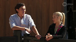 Leo Tanaka, Roxy Willis in Neighbours Episode 8111