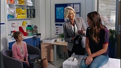 Susan Kennedy, Dr Dora Dietrich, Elly Brennan in Neighbours Episode 8112