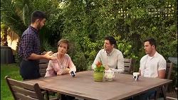 David Tanaka, Susan Kennedy, Finn Kelly, Shaun Watkins in Neighbours Episode 8113