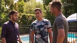 David Tanaka, Aaron Brennan, Mark Brennan in Neighbours Episode 8113