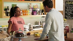 Yashvi Rebecchi, Finn Kelly in Neighbours Episode 8115