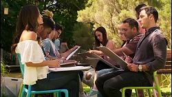Elly Brennan, Finn Kelly, Bea Nilsson, Shaun Watkins in Neighbours Episode 8119