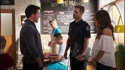 Shaun Watkins, Mark Brennan, Elly Brennan in Neighbours Episode 8120