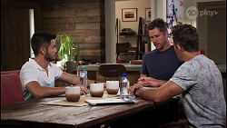 David Tanaka, Mark Brennan, Aaron Brennan in Neighbours Episode 8120