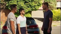 Aaron Brennan, David Tanaka, Mark Brennan in Neighbours Episode 8120