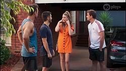 Aaron Brennan, David Tanaka, Chloe Brennan, Kyle Canning in Neighbours Episode 8121