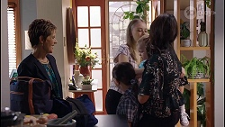Susan Kennedy, Nell Rebecchi, Willow Somers, Hugo Somers, Dipi Rebecchi in Neighbours Episode 8122