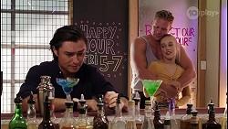 Leo Tanaka, Vance Abernethy, Roxy Willis in Neighbours Episode 8123
