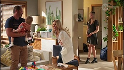 Toadie Rebecchi, Hugo Somers, Andrea Somers, Willow Somers in Neighbours Episode 8123