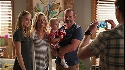 Willow Somers, Andrea Somers, Hugo Somers, Toadie Rebecchi, Shane Rebecchi in Neighbours Episode 8123