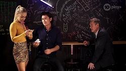 Roxy Willis, Leo Tanaka, Paul Robinson in Neighbours Episode 8124