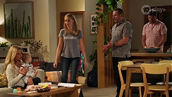 Andrea Somers, Hugo Somers, Willow Somers, Toadie Rebecchi, Shane Rebecchi in Neighbours Episode 8126