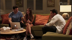 Finn Kelly, Bea Nilsson, Shaun Watkins in Neighbours Episode 8128