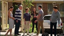 Elly Brennan, Karl Kennedy, Susan Kennedy, Bea Nilsson, Shaun Watkins, Finn Kelly in Neighbours Episode 8128