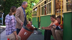 Amy Williams, Karl Kennedy, Kyle Canning, Gary Canning in Neighbours Episode 8129