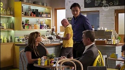 Terese Willis, Leo Tanaka, Paul Robinson in Neighbours Episode 8130