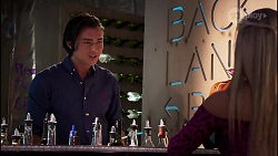 Leo Tanaka, Roxy Willis in Neighbours Episode 8130
