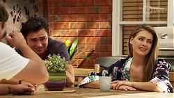 Ned Willis, Leo Tanaka, Chloe Brennan in Neighbours Episode 8131