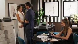 Ebony Buttrose, Pierce Greyson, Chloe Brennan in Neighbours Episode 8131