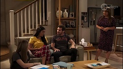 Piper Willis, Yashvi Rebecchi, Ned Miles, Terese Willis in Neighbours Episode 8135