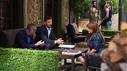 Paul Robinson, Pierce Greyson, Terese Willis in Neighbours Episode 8137