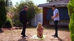 Paul Robinson, Roxy Willis, Leo Tanaka in Neighbours Episode 8137