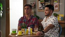 Aaron Brennan, David Tanaka in Neighbours Episode 8139