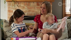 Nell Rebecchi, Willow Somers, Hugo Somers in Neighbours Episode 8139