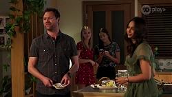 Shane Rebecchi, Willow Somers, Yashvi Rebecchi, Dipi Rebecchi in Neighbours Episode 8140