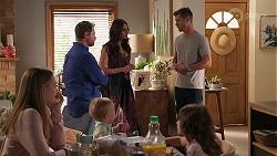 Willow Somers, Shane Rebecchi, Hugo Somers, Dipi Rebecchi, Mark Brennan, Nell Rebecchi in Neighbours Episode 8141