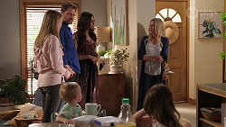 Willow Somers, Hugo Somers, Shane Rebecchi, Dipi Rebecchi, Andrea Somers, Nell Rebecchi in Neighbours Episode 8141