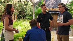 Dipi Rebecchi, Shane Rebecchi, Mark Brennan, Kyle Canning in Neighbours Episode 8142