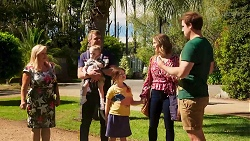 Sheila Canning, Gary Canning, Hugo Somers, Nell Mangel, Amy Williams, Kyle Canning in Neighbours Episode 8144