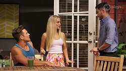Aaron Brennan, Roxy Willis, David Tanaka in Neighbours Episode 8145