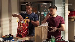 Aaron Brennan, David Tanaka in Neighbours Episode 8145