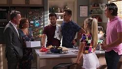 Paul Robinson, Terese Willis, David Tanaka, Aaron Brennan, Roxy Willis, Leo Tanaka in Neighbours Episode 8146