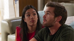 Yashvi Rebecchi, Ned Willis in Neighbours Episode 8146