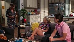 Terese Willis, Roxy Willis, Leo Tanaka in Neighbours Episode 8146