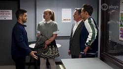 David Tanaka, Harlow Robinson, Paul Robinson, Aaron Brennan in Neighbours Episode 8147