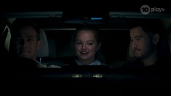 Aaron Brennan, Harlow Robinson, David Tanaka in Neighbours Episode 8147
